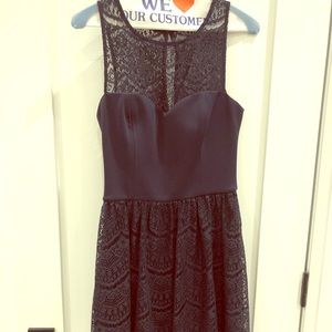 Navy blue guess semi-formal lace dress